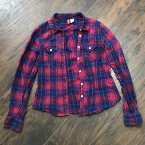 Blue and red H&M Flannel